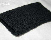 Black iPhone 4 Cozy Black crochet iPod Touch Sleeve Dude Cover Black for him -Etsy Gift -Fathers Day