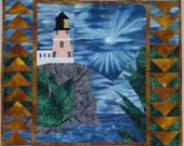 Quilt Pattern:  Split Rock Lighthouse quilted wall hanging