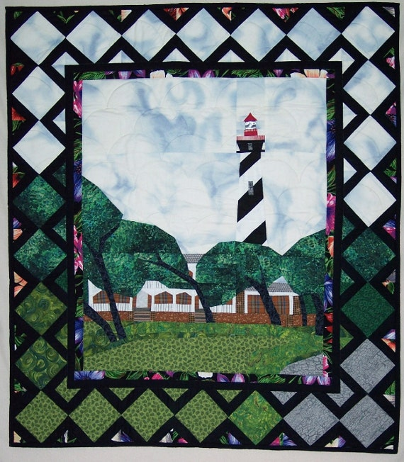 Quilt Pattern St Augustine Lighthouse Quilted Wall Hanging