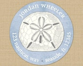 Seaside Collection (Sand Dollar) Custom Address Labels or Stickers
