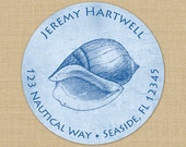 Seaside Collection (Conch Shell) Custom Address Labels or Stickers