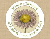 Vintage Daisy - Custom Address Labels or Stickers