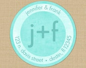 Shabby Initials or Monogram - Custom Address Labels or Stickers
