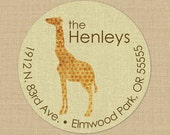 Shabby Spotted Giraffe - Custom Address Labels or Stickers