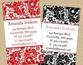 Amanda (Classic Baroque) 50 Custom Business or Calling Cards
