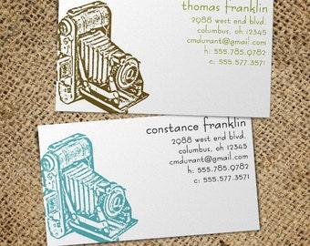 Vintage Camera - 50 Custom Business or Calling Cards