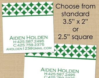 Mod Circles - 50 CUSTOM Business or Calling Cards