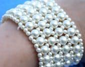 Charming Vintage Pearl Bracelet