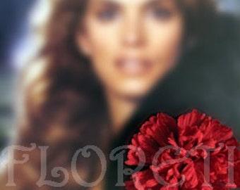 Carnation Silk Flower Lapel Pin \/ Hair Clip