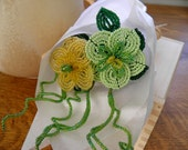 Sunny French Beaded Flowers