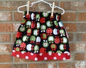 SALE Apple, Red and White Polka Dot Skirt Size 5T Ready to Ship
