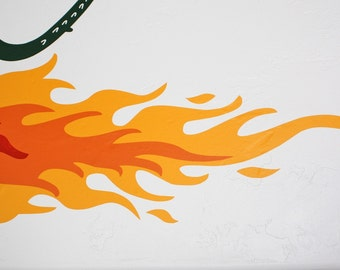 Fire Flame for Dragon- Vinyl Wall Decal