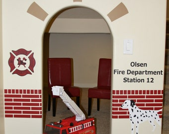 Fire Station Firehouse- Vinyl Wall Decal