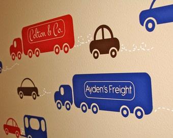 Cars Traffic- Vinyl Wall Decals