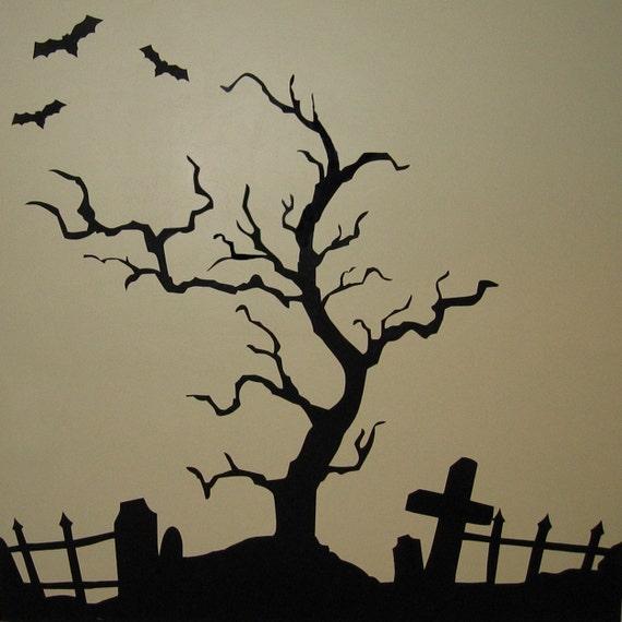 Creepy Halloween Tree- Vinyl Wall Art