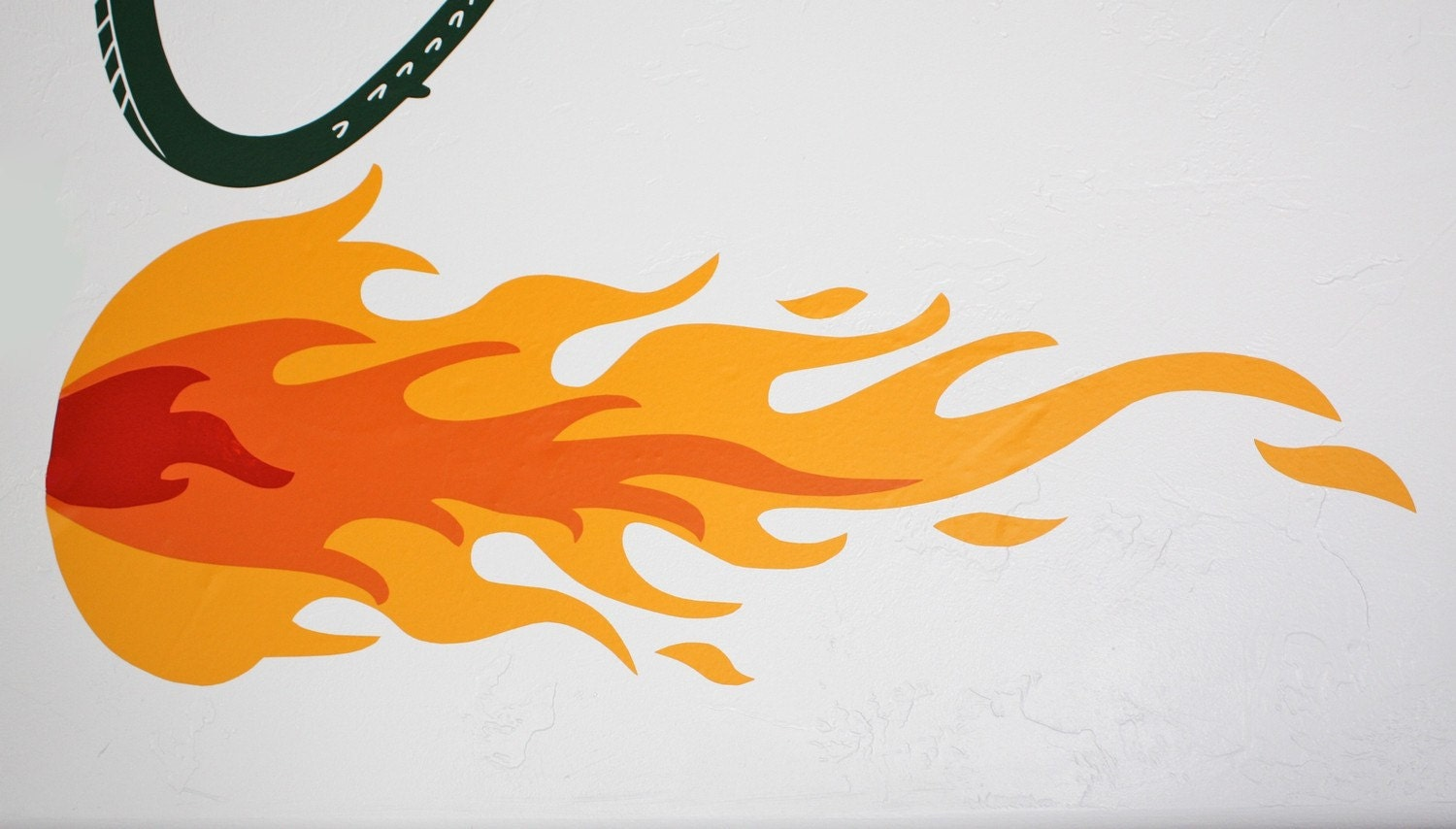 Fire Flame for Dragon Vinyl Wall DecalFire Flames Dragon