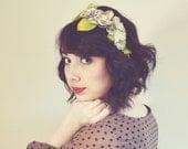 Floral Newspaper Headband