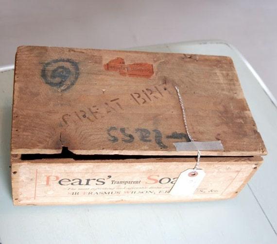 Vintage Wood Soap Box