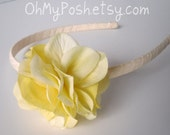 The Monet Headband in Creamy Yellow - Perfect for Spring