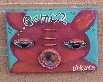 Original Painting ~ Einstein's Pig