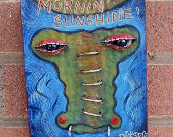 Original Art ~ Morning Gator