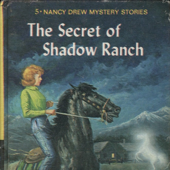 1965 Nancy Drew The Secret of Shadow Ranch, Vintage Mystery Book, Girl Detective Series