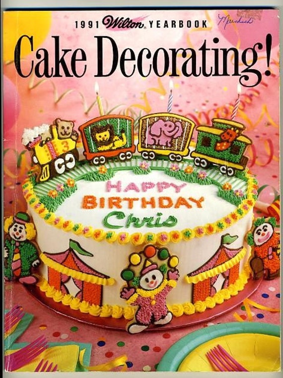 Xmas Cake Decorating Books : Items similar to Wilton Cake Decorating Yearbook 1991 ...
