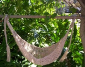 SALE Crocheted  Baby Hammock   Photo Prop Only   Ready to ship  TAN BUFF