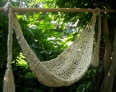 SALE Crocheted Baby Hammock Photo Prop Only SUPER SOFT Ready to ship