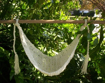 Crocheted  Baby Hammock   Photo Prop Only   Ready to ship  OFF WHITE