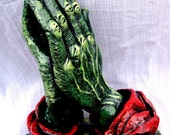 Huge Up-cycled Vintage Zombie Praying Hands