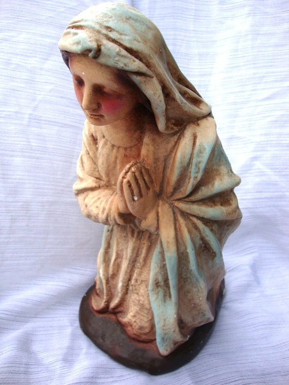 Vintage Early Chalkware Virgin Mary 20s/30s
