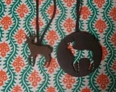 oh deer - a pair of copper friendship necklaces
