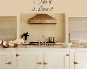 Kitchen Dinner Choices Home Wall Art Decal Accents Decorations