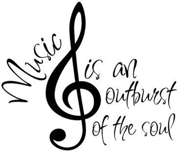 Items similar to Music Decal Vinyl Wall Art Home Decor ...