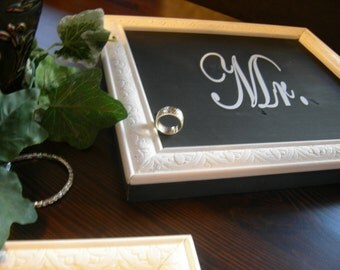 2 Wedding Signs MR and MRS 12in x 12in  great photo props