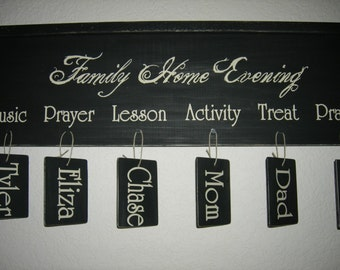 DECAL ONLY for DIY Family Home Evening / Chore's Chart Free Shipping