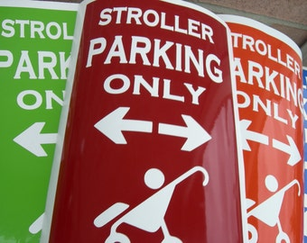 Stroller Parking Only decal - FREE Shipping