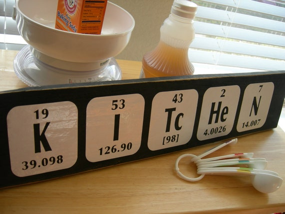 Kitchen sign Periodic Table of Elements - Fun geek decor