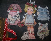 International Fabric Paper Doll