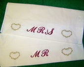 Embroideried Pillowcases