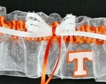 Tennessee Volunteers Wedding Garter, Handmade, Can Be Personalized