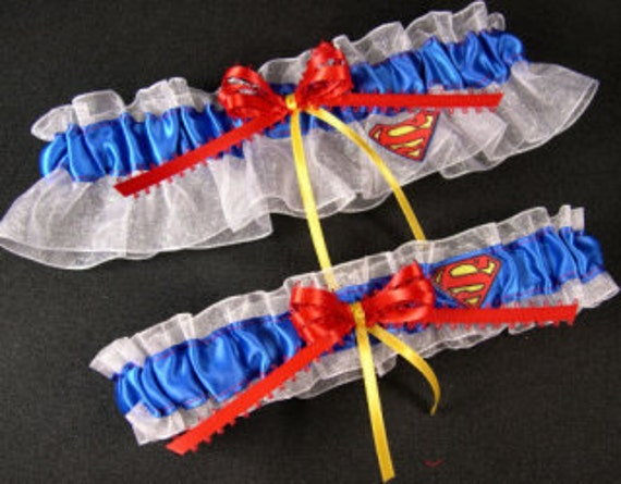 SUPERMAN/Superman Garter Set/Superhero Garter Set/Red And Royal Blue Garter Set/Non Traditional Weddings/Superman Wedding/Superhero Garters. Add to Favorites Add this item to a list Loading. Hmm, something went wrong. Try that again. You don't have any lists yet Create a new list.