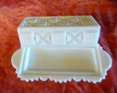 westmoreland milk glass butter dish with lid