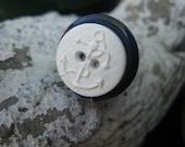 Navy Nautical Button Ring