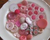 Pink Vintage Button Lot