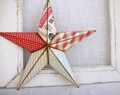 10in stars and pin stripes barn star