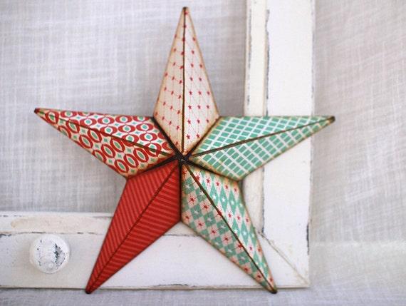 8in red white and sorta blue barn star