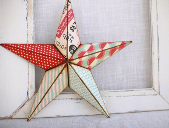 16in stars and pin stripes barn star