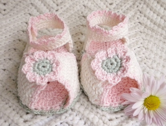 Crocheted Summer Sandals Cotton Infant Girl 12 18 mo